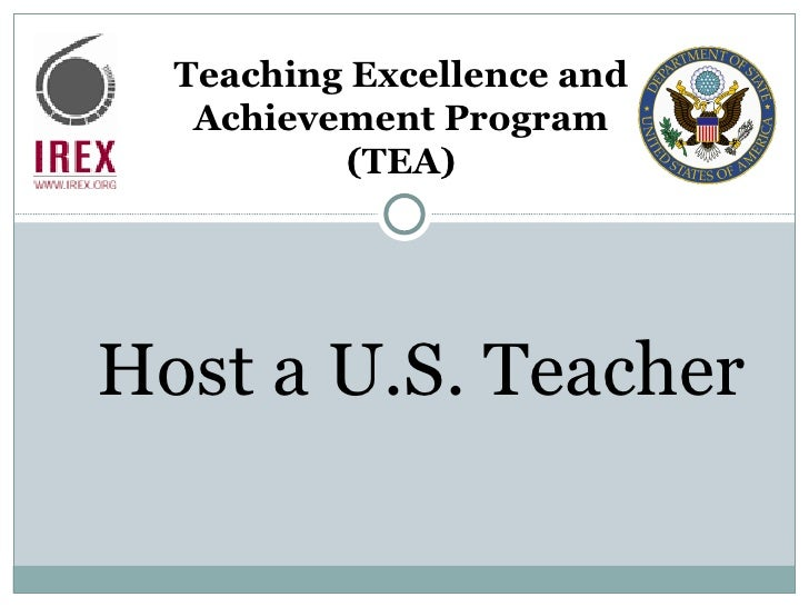 Apply to Host a U.S. Teacher (TEA and ILEP)