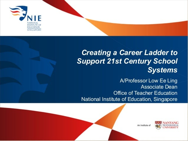 Creating a Career Ladder to Support 21st Century School Systems A/Professor Low Ee Ling Associate Dean Office of Teacher E...