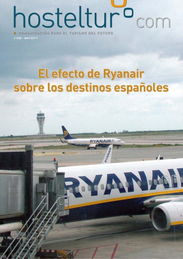 El efecto de Ryanair sobre los destinos españoles