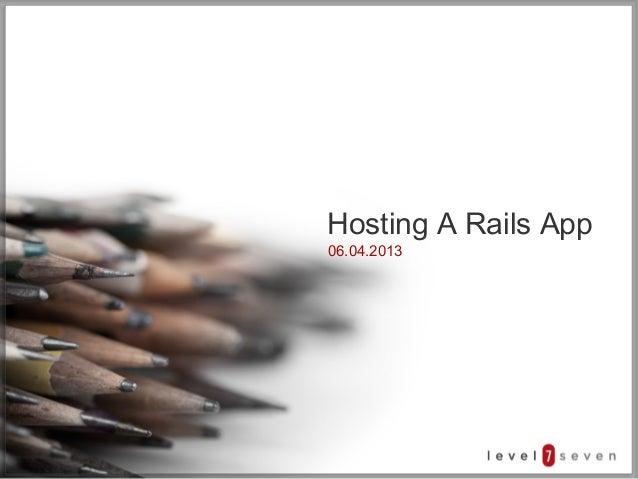 Hosting a Rails App
