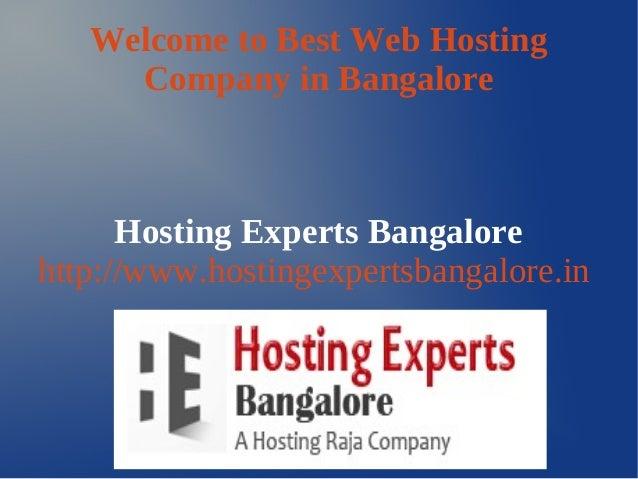 Best Web Hosting Service Bangalore
