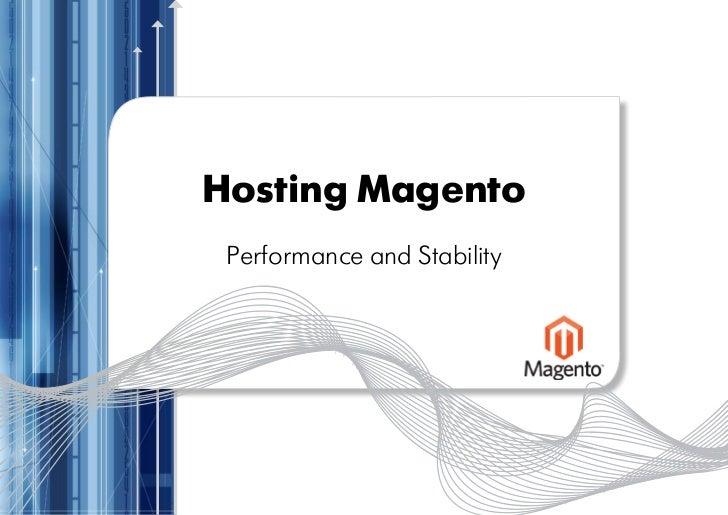 Magento Imagine eCommerce Conference February 2011: Optimizing Magento For Performance