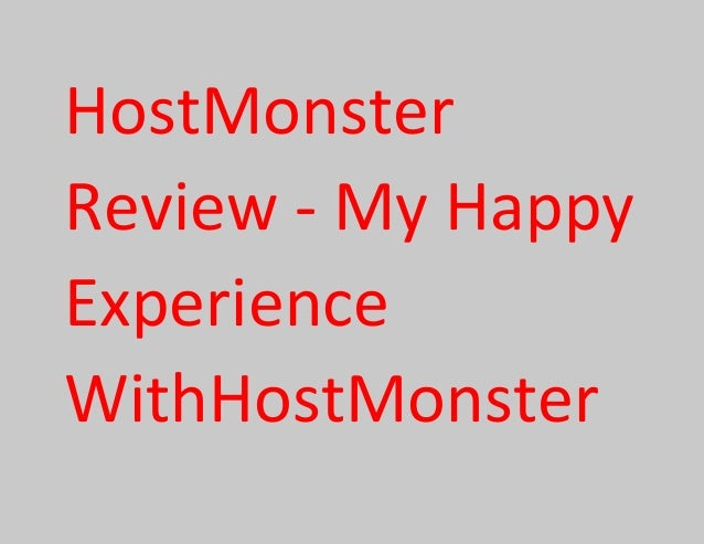 HostMonster Review - My Happy Experience WithHostMonster