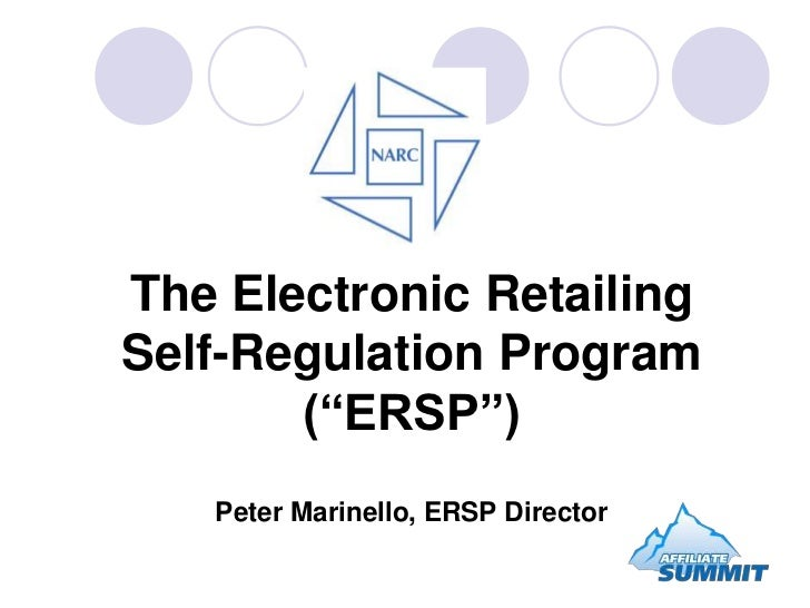 "The Electronic Retailing Self-Regulation Program(""ERSP"")Peter Marinello, ERSP Director<br />"