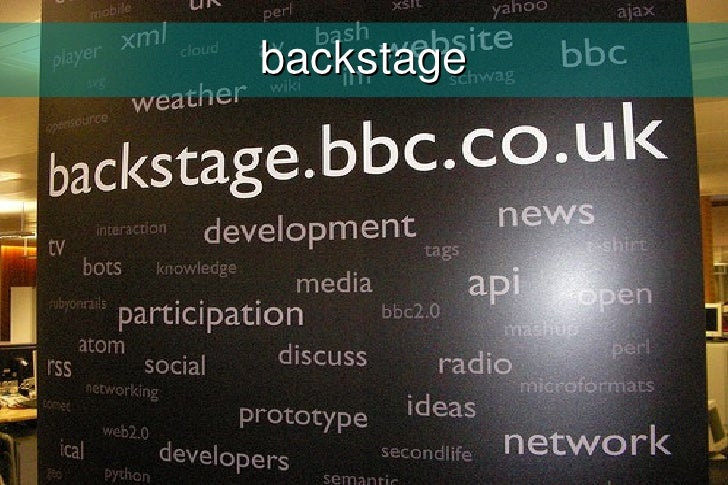 BBC Backstage\'s hot topics (4 conferences in 1 presentation)
