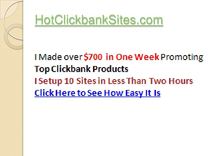 Making Money At Home - Hot Clickbank Sites