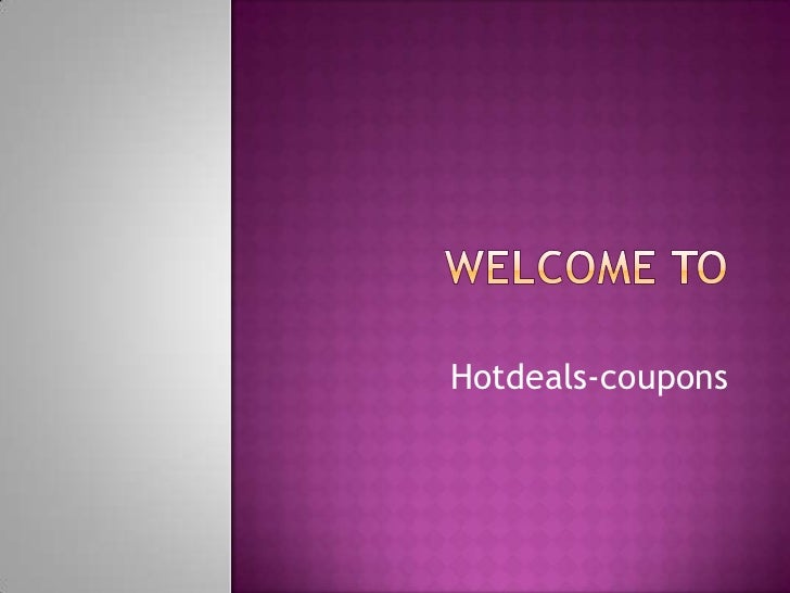 Hotdeals-coupons
