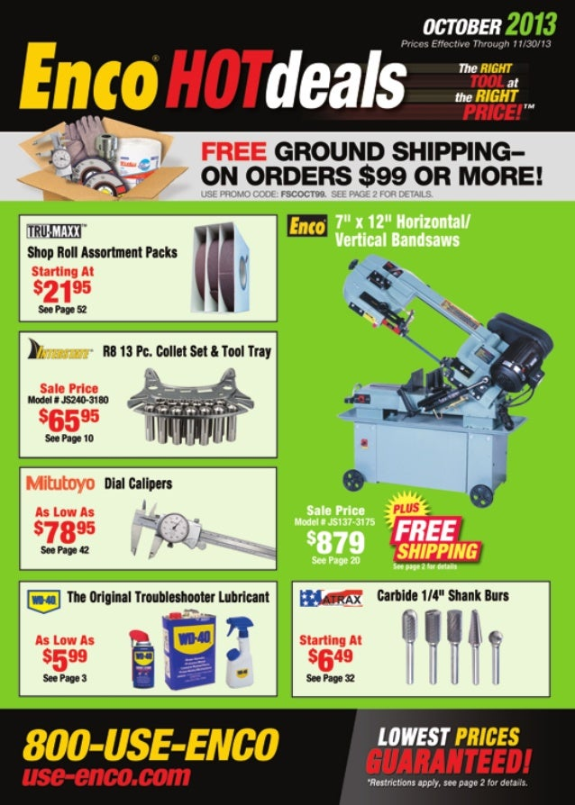 Enco Hotdeals Catalog - October 2013
