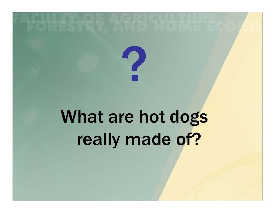 What are hot dogs really made of?