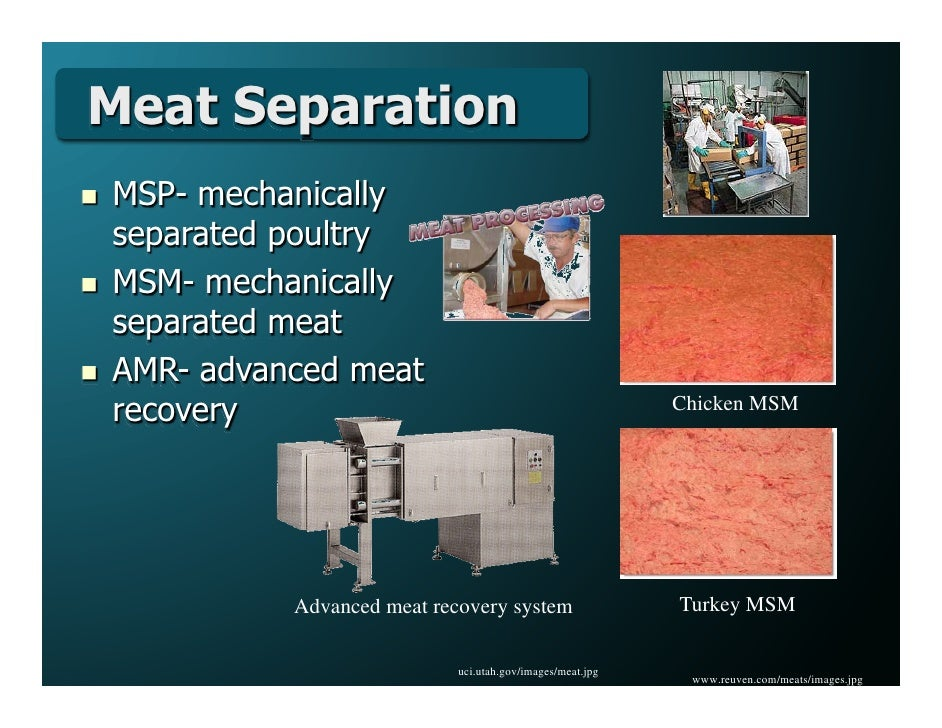 Recovery Advanced Msm Advanced Meat Recovery