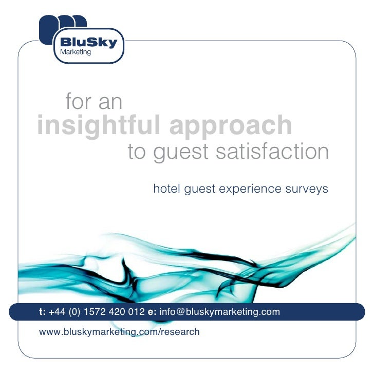 for aninsightful approach                  to guest satisfaction                        hotel guest experience surveyst: +...