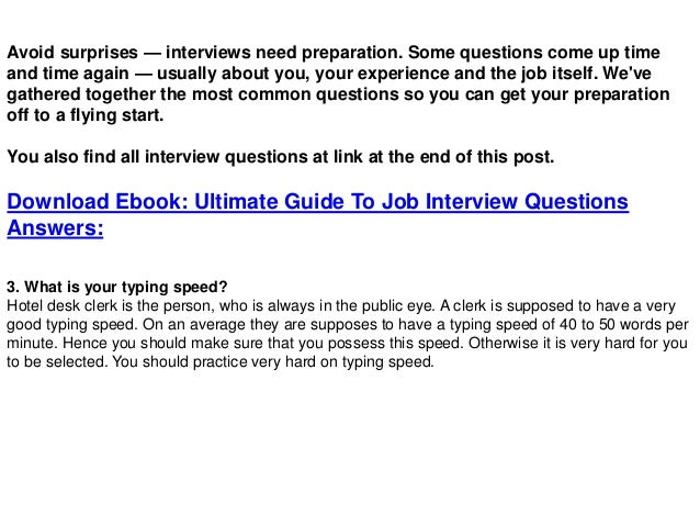 interview questions and answers free download pdf and ppt file