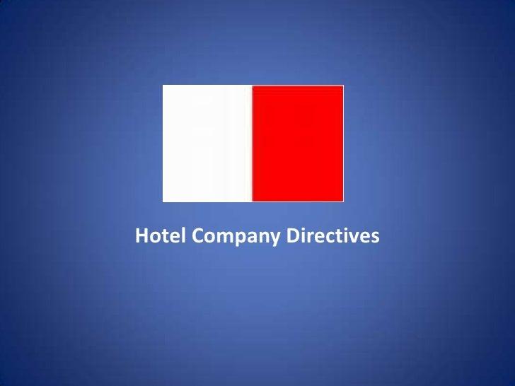Hotel Company Directives<br />