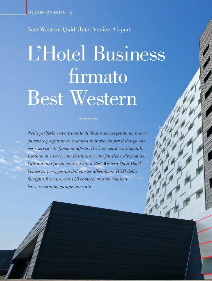 Business HotelsBest Western Quid Hotel Venice AirportL'Hotel Business     firmatoBest Western                            A...