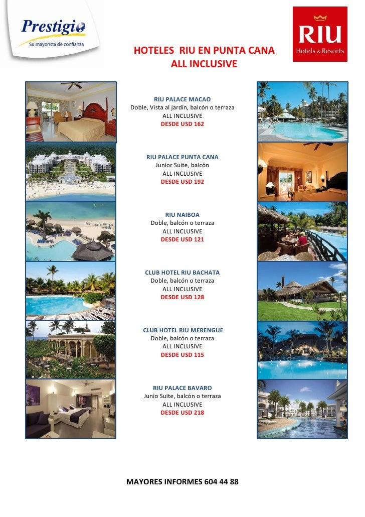 HOTELES RIU EN PUNTA CANA       ALL INCLUSIVE        RIU PALACE MACAODoble, Vista al jardín, balcón o terraza            A...
