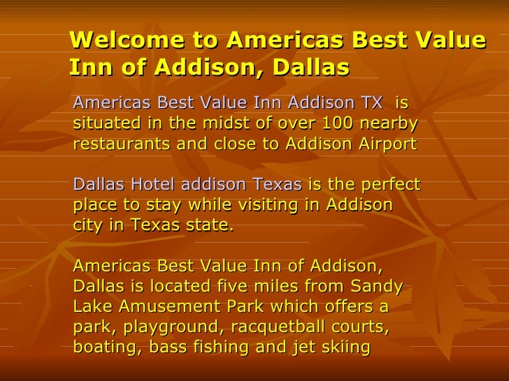 Welcome to Americas Best Value Inn of Addison, Dallas   Americas Best Value Inn Addison TX   is situated in the midst of o...