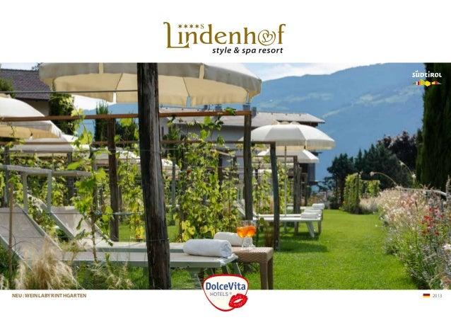 Hotel Lindenhof Prospekt 2013 - 4-Sterne Wellnesshotel in Naturns, Südtirol