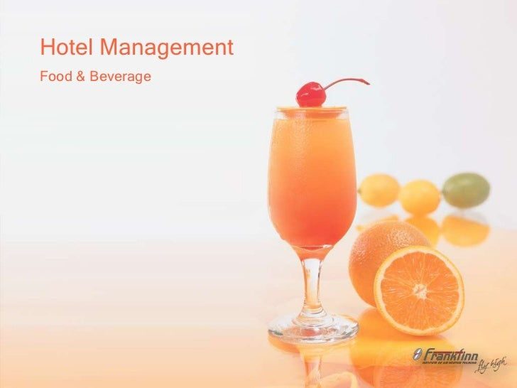 Hotel management (food & brevage) from teja