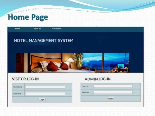 hotel management system presentation