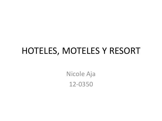Hotel, motel y resort