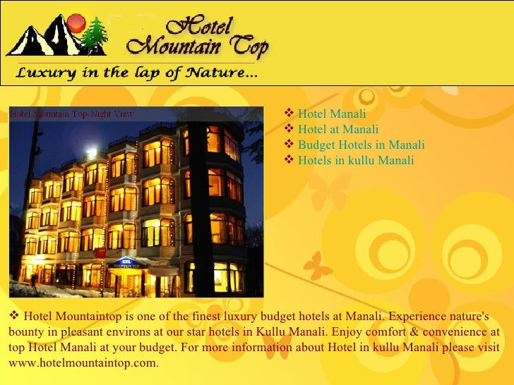 Hotel Mountaintop - Hotel at Manali