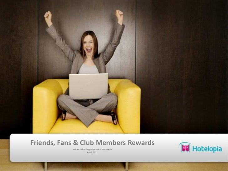 facebook fans, friends & club members reward - Hotelopia