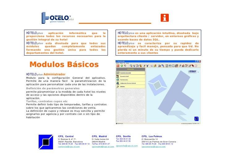 HOTELOplus     aplicación    informática  que   le                                     HOTELOplus es una aplicación intuit...