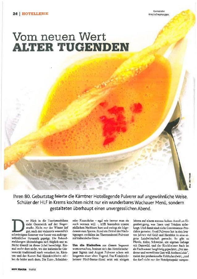 """""""Wachauer Abend"""" im Restaurant Loy Stubn, Kärnten"""