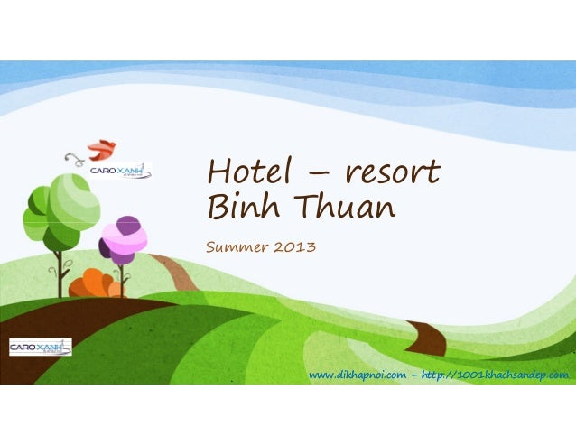 Hotel resort binh thuan catalogue 2013