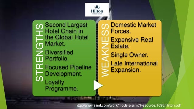 supply chain management of hilton hotel