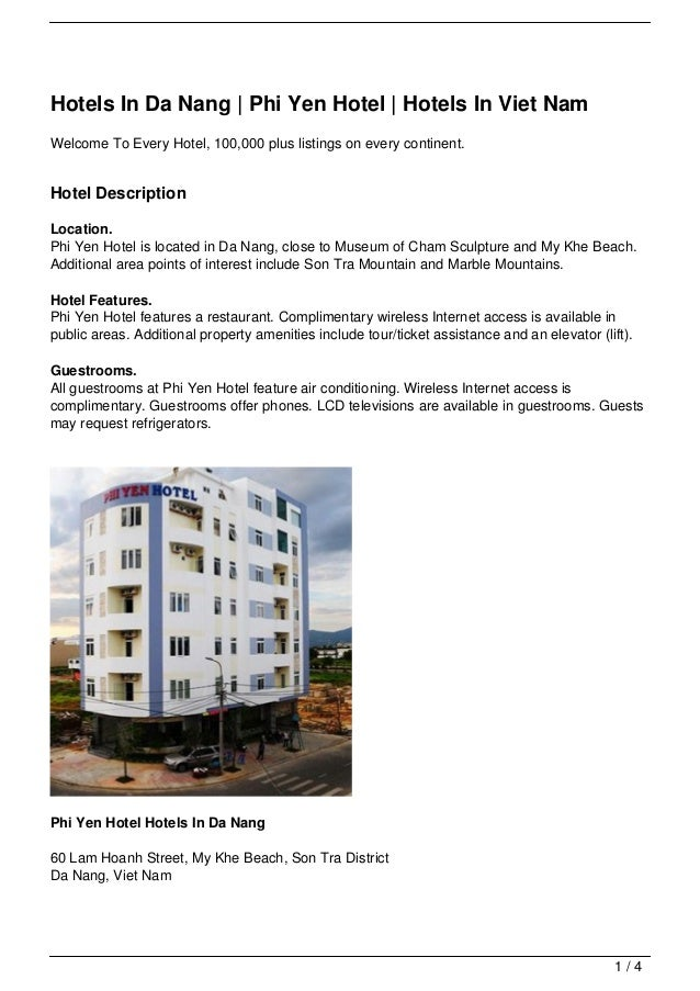 Hotels In Da Nang | Phi Yen Hotel | Hotels In Viet NamWelcome To Every Hotel, 100,000 plus listings on every continent.Hot...