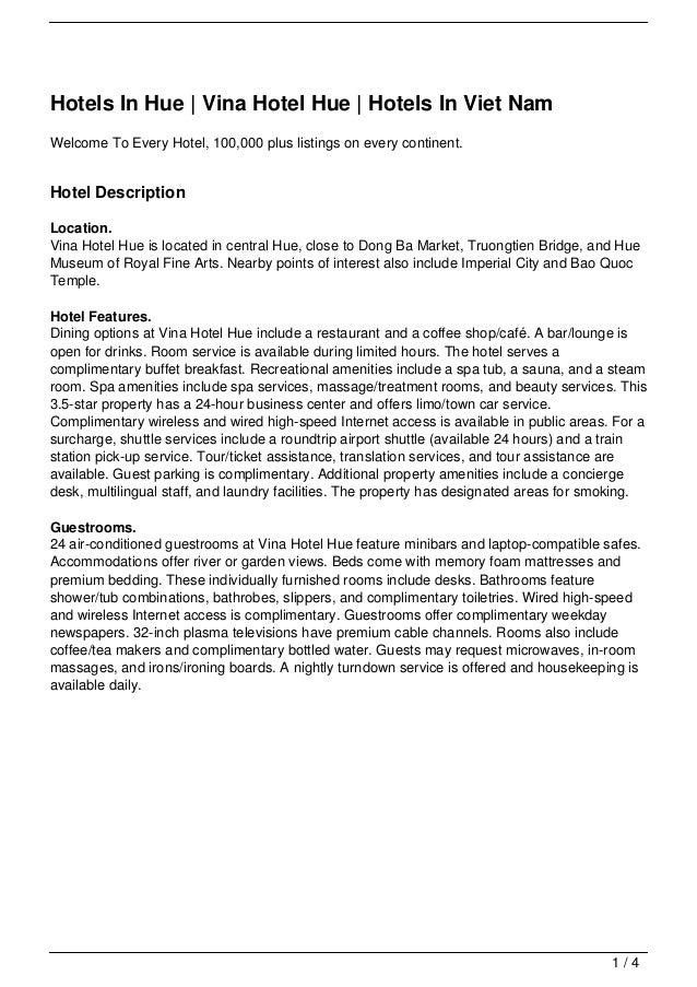 Hotels In Hue | Vina Hotel Hue | Hotels In Viet Nam
