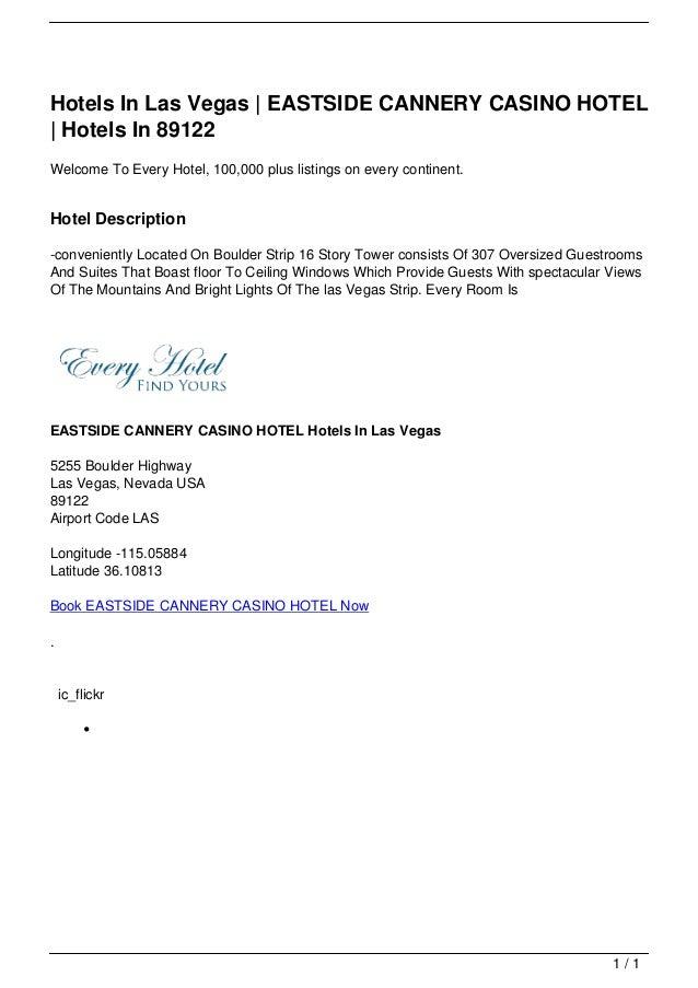 Hotels In Las Vegas   EASTSIDE CANNERY CASINO HOTEL                                     Hotels In 89122                   ...