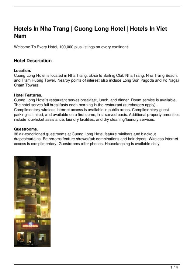Hotels In Nha Trang | Cuong Long Hotel | Hotels In Viet Nam
