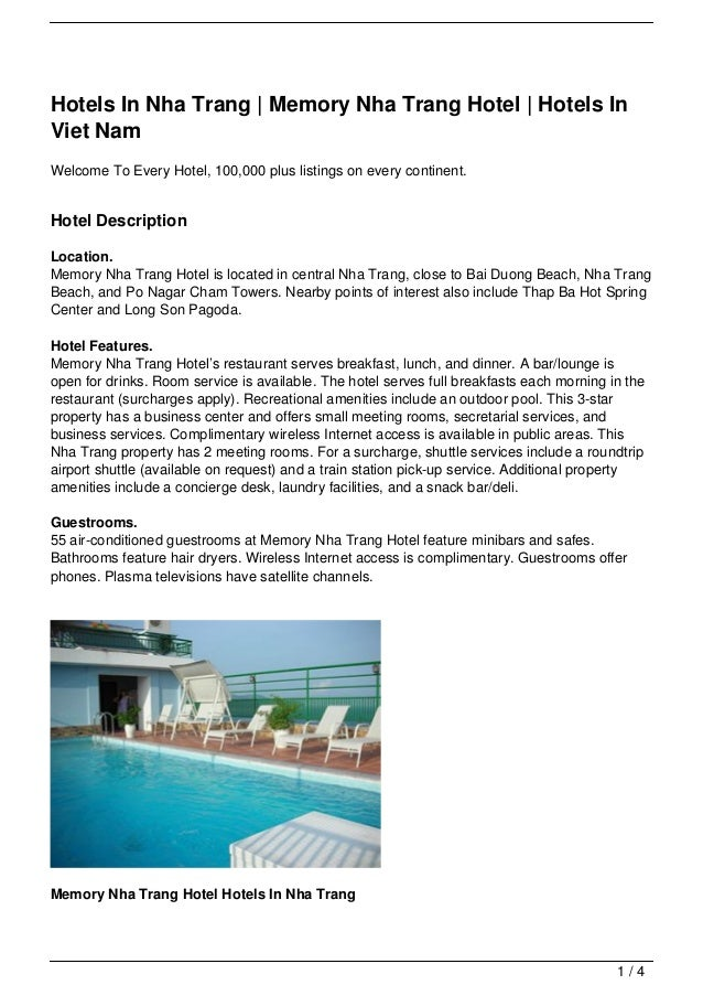 Hotels In Nha Trang | Memory Nha Trang Hotel | Hotels InViet NamWelcome To Every Hotel, 100,000 plus listings on every con...