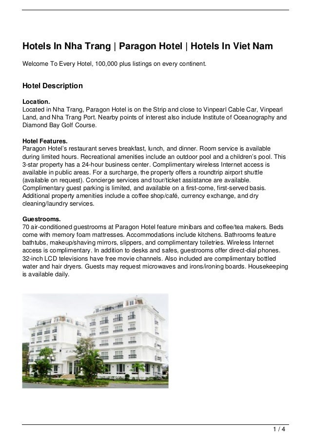 Hotels In Nha Trang | Paragon Hotel | Hotels In Viet NamWelcome To Every Hotel, 100,000 plus listings on every continent.H...