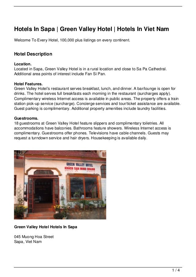 Hotels In Sapa | Green Valley Hotel | Hotels In Viet Nam