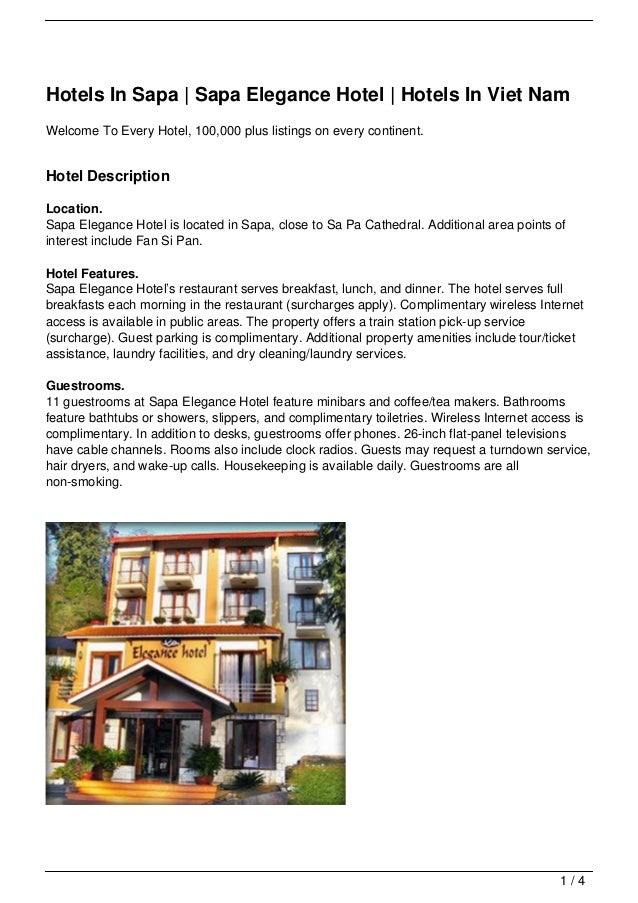 Hotels In Sapa | Sapa Elegance Hotel | Hotels In Viet NamWelcome To Every Hotel, 100,000 plus listings on every continent....