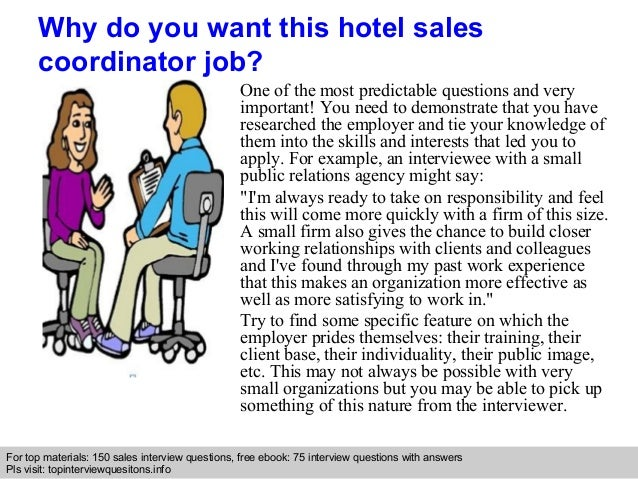 hotel  s coordinator interview questions and answers