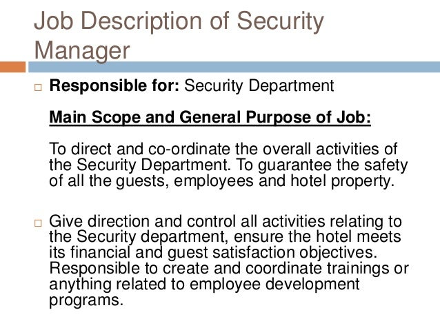 hotel security job description resume Oylekalakaarico
