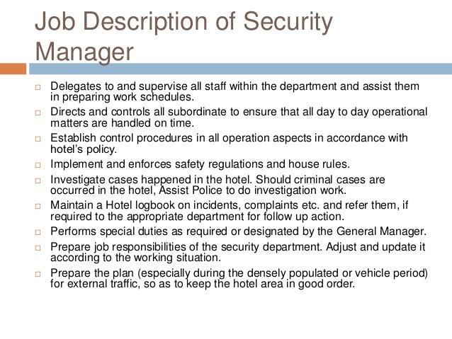 Casino surveillance supervisor job description