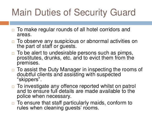 Security Officer Supervisor Job Description – Security Officer Job Description