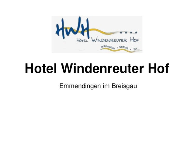 Hotel Windenreuter Hof Emmendingen im Breisgau