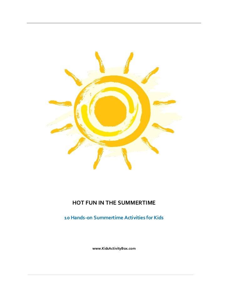 Hot Fun In The Summertime - KidsActivityBox.com