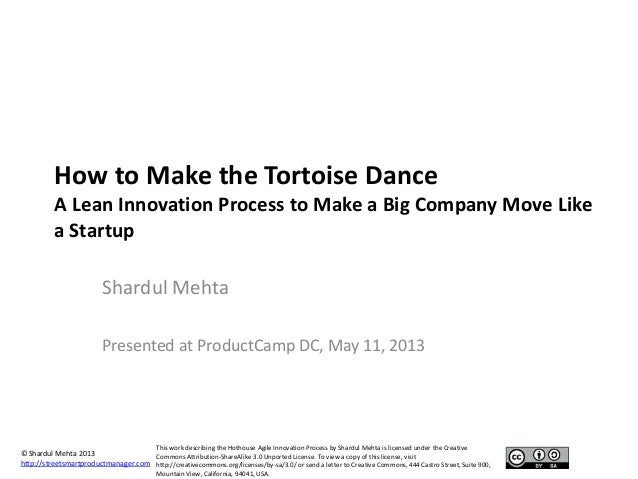 © Shardul Mehta 2013http://streetsmartproductmanager.comThis work describing the Hothouse Agile Innovation Process by Shar...