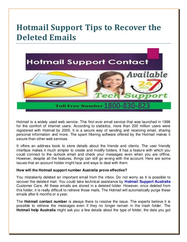 hotmail support how to delete email