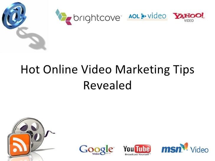 Online Video Marketing Tips Revealed For More Website Traffic