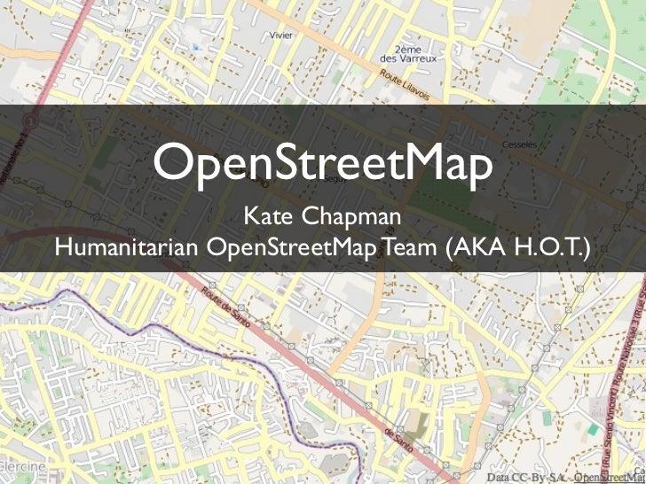 ICCM 2010 OpenStreetMap Workshop