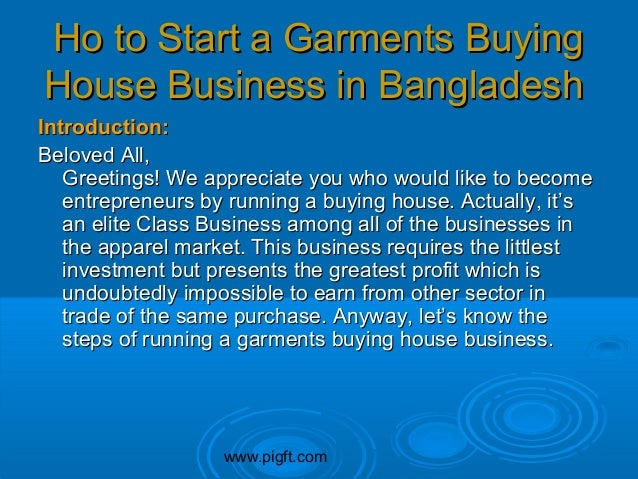 How to start garment trading business