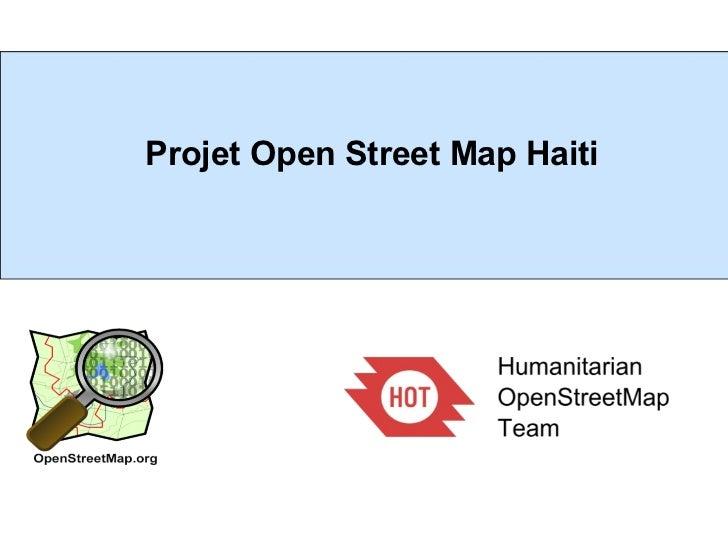 Projet Open Street Map Haiti